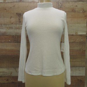Katie Sturino NWT White Turtleneck Sweater size S